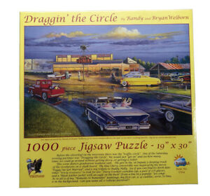2007 Draggin' the Circle 1000 Piece Puzzle by SunsOut 1950's Diner Drive-In USA