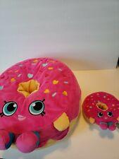 Set of 2 Shopkins D'Lish Donut Plush Pink Stuffed Animal Pillow Big Small Mini