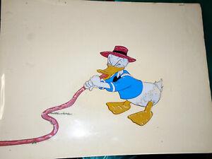 Disney Art Corner Cel Beezy Bear Donald Duck 1955