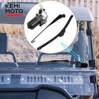 12V Electric Windshield Wiper Motor Kit UTV for Polaris RZR Kawasaki Can Am X3