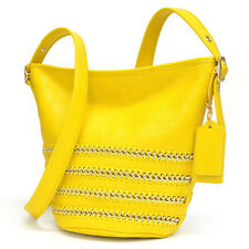 NEW COACH MINI DUFFLE IN WHIPLASH YELLOW LEATHER CROSSBODY SHOULDER BAG HANDBAG