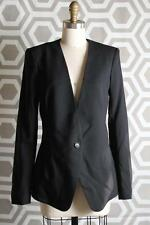 NWT Helmut Lang In Seam One Button Blazer 10 $598 Smoking Wool Black