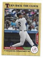 2020 Topps Now Derek Jeter Turn Back the Clock Card - Short Print