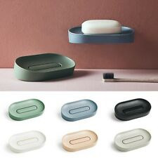 Palstic Soap Dish Wall-mounted Soap Holder Bathroom Kitchen Slotted Soap Tray