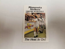 Minnesota Strikers 1985/86 MISL Indoor Soccer Pocket Schedule - Budweiser