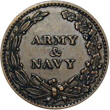 Army & Navy Eagle On Union Shield Patriotic Civil War Token