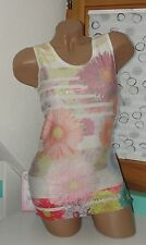 S. para H ITALY Top Party blogger Encaje Brillo Lentejuelas Multicolor Talla