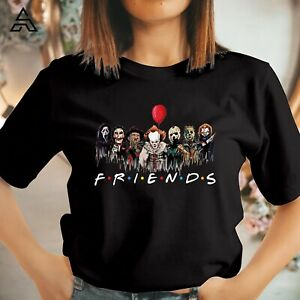 FRIENDS HALLOWEEN T shirt Horror Movie Scary Killers Friends Gift Tshirts 1756