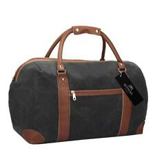15 Colours Canvas Travel Holdalls - Weekend Overnight Bags (black Jeans)