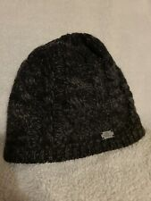 Womens Girls He North Face Black Gray Hat Winter Snow