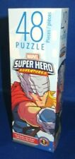 "CARDINAL MARVEL SUPER HERO ADVENTURES THOR 48 PIECE PUZZLE 10'X9"" NEW"