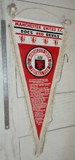FOOTBALL MANCHESTER UNITED 1976 RED DEVILS FANION PENNANT WIMPEL OLD TRAFFORD