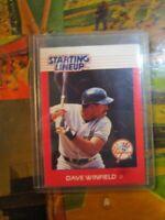 1988 Kenner Starting Lineup SLU card Dave Winfield NY Yankees HOF
