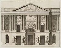 Peristyl des alten Louvre, Fassade und Dekoration, Architektur, 18. Jh, Rad.