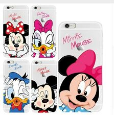 m1 COVER TRASPARENTE SILICONE IPHONE 4 - 5 - 6 MICKEY MOUSE MINNIE DONALD DUCK