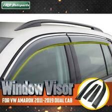 4x Weather Shield Weathershield Window Visor for VW Amarok Dual Cab 2011-2019