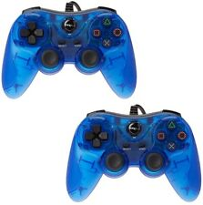 2X TTX Blue Twin Shock Game Controller Joypad Pad for Sony PS2 Playstation 2