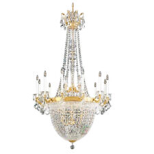 French Empire Gold Large Crystal Chandelier Lustre Chrome Chandeliers Lighting