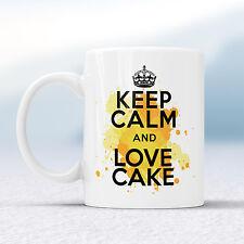 Keep Calm and Love TORTA SPLASH TAZZA REGALO British Bake Off LOVE TAZZA REGALO