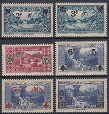 Libanon Lebanon 1943 ** Mi.261/66 Freimarken Definitives with new value ovpt.