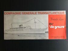 MS DE GRASSE - FRENCH LINE | Deck Plan