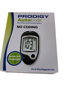 Prodigy Auto Code Talking Blood Glucose Meter NEW