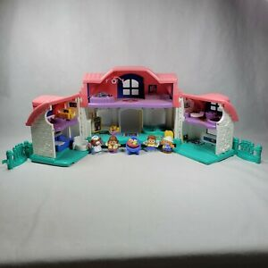 Fisher Price Little People Sweet Sounds Play Family House Pink Roof With Figures