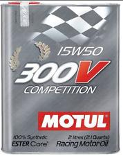 MOTUL 300V COMPETITION 15W50 OLIO MOTORI SINTETICO 15W-50 RALLY GT CORSA 2 LT