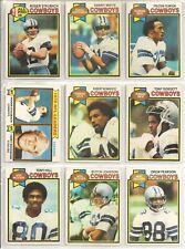 1979 Topps Football Dallas Cowboys Team Lot - Mint - Dorsett, Staubach, Jones +