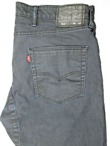 Levi's 511 Slim Fit Jeans Very Dark Blue Wash 38 x 30 Black Jacron Size Zip Fly