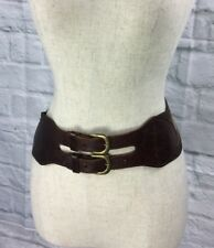 Miss Selfridge size Small Leather & Elastic Belt Made In Holland Brass Buckle