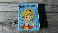 Vintage 1959 Barbie Webster's Dictionary with Blue Vinyl Case