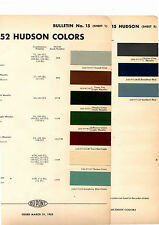 1952 Hudson Pacemaker Commodore Wasp Hornet Super 52 Paint Chips Dupont 4