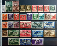 ITALY REGNO 1945-1947 TRIESTE AMG-VG COMPLETA - 31 STAMPS NEW*
