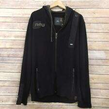 G-STAR RAW Mens hooded Jacket size XXL Cotton Black
