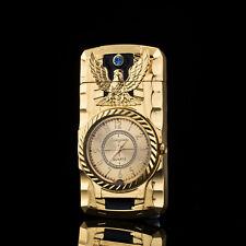 Multifunctional Cigarette Lighter Gold Bird Quartz Watch For Men