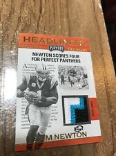 2016 Panini Playoff Cam Newton #/10 Headliners Gold Patch 1st Down Panthers HLCN