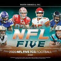 2020 NFL FIVE FOOTBALL FACTORY SEALED BOOSTER BOX IN STOCK FREE SHIPPING