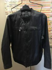 NEW | Men's Marc Anthony Faux Leather Jacket | Size 2XL | Black|Motorcycle|Racer