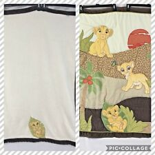 Lion King Simba's comforter & blanket  Disney baby Nursery Crib bedding Lot