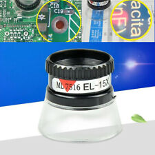 Portable Eye Magnifier 15X Monocular Magnifying Glass Loupe Lens Jeweler Tool