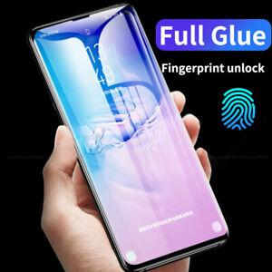 For Samsung Galaxy S8 S9 S20/21+ Film Full Glue UV Temper Glass Screen Protector