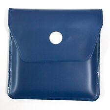 CENDRIER de POCHE ou de SAC Couleur BLEU intérieur protection alu NEUF 8x8cm