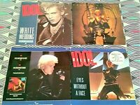 """3 X Billy Idol 7"""" Singles Inc Double Pack Vinyl  EXCELLENT. All PICTURE SLEEVES"""