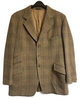 PYTCHLEY British Vtg 70s Tweed Hacking Jacket Plaid Check Wool Blazer Hunting 42