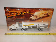 John Deere Parts Express Kenworth Semi With Plastic Van Trailer  1/64th Scale !