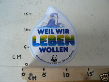 STICKER,DECAL WEIL WIR LEBEN WOLLEN WWF PANDA,ZEEHOND
