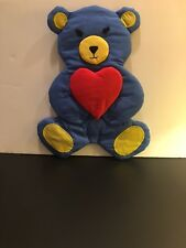 Vintage Soft Wall Hanging  Bear with heart -New-Last