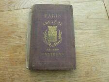 1866 Original Paris & Environs Nouveau Map Goyer On Linen