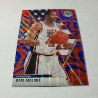 KARL MALONE 2019-20 PANINI MOSAIC TEAM USA BLUE REACTIVE PRIZM #257